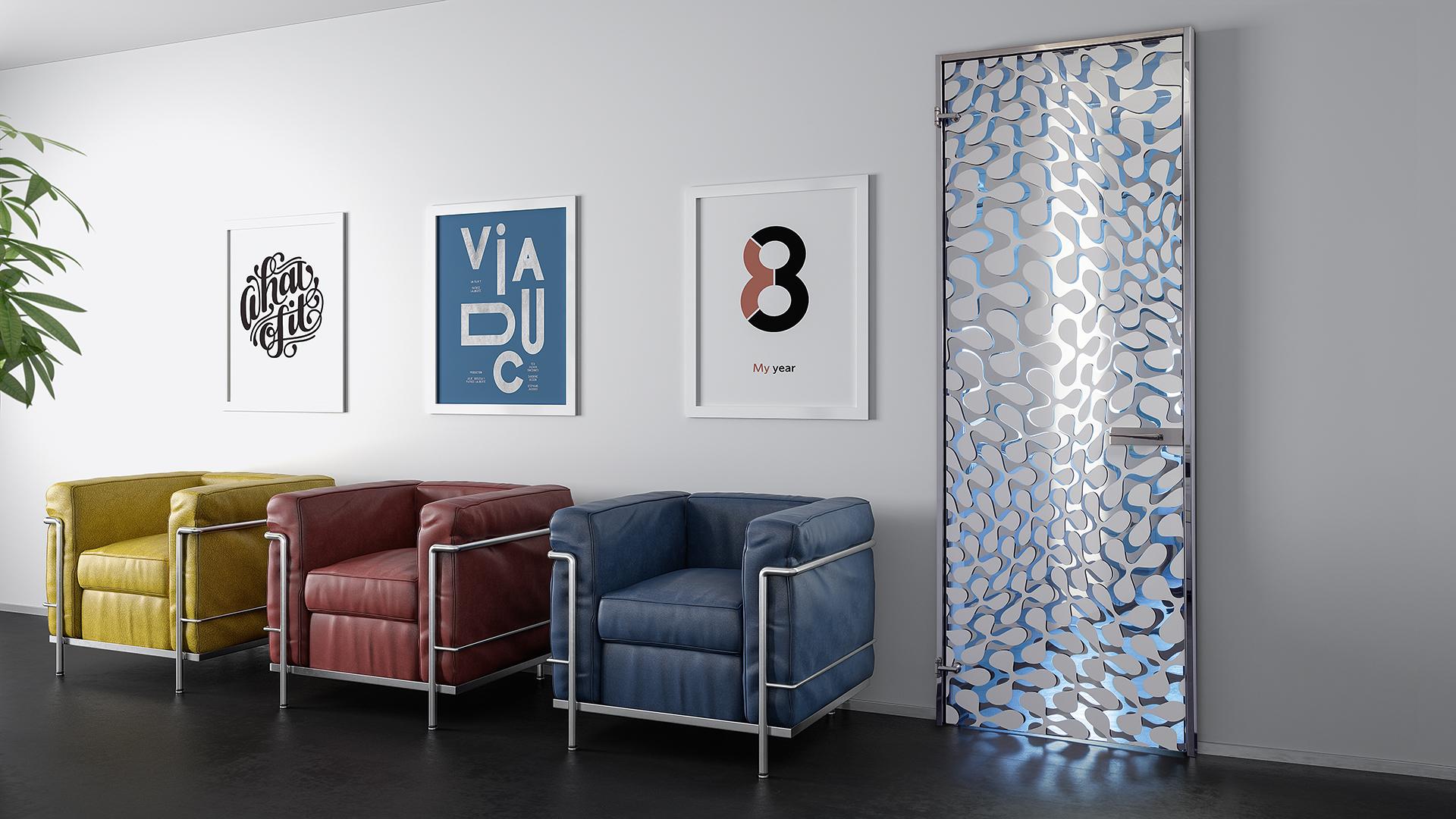 Lead Door: glass door swing interior design home