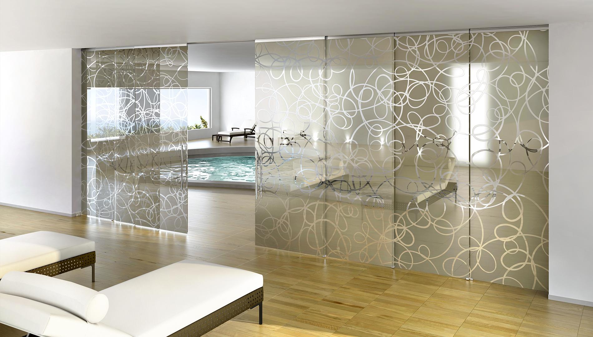 Credenza bianca lucida con vetri - Mobili divisori ...