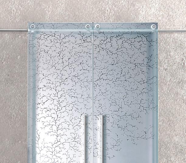 Porte Scorrevoli A Due Ante In Vetro.Ante Scorrevoli Vetro Porta Design Arredamento Cristallo